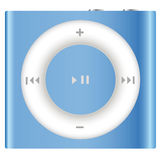 New Apple iPod Shuffle. The 1 September Apple has launched a new version of their tiniest music player, the iPod shuffle stock illustration