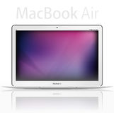 New Apple mac book air - vector Royalty Free Stock Photo