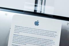 New Apple Macbook Pro Retina laptop unboxing Royalty Free Stock Image