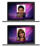 New Apple MacBook Pro whit Face Time Stock Photography