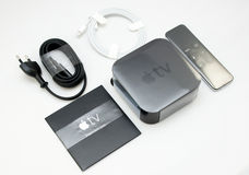 New Apple TV media streaming player microconsole Stock Photos