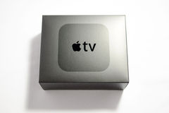 New Apple TV media streaming player microconsole Royalty Free Stock Image