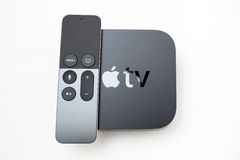New Apple TV media streaming player microconsole Stock Images