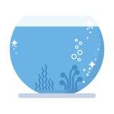 New aquarium pet fish. Cartoon flat vector illustration. Objects  on a white background Royalty Free Stock Photo