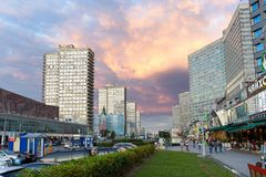 New Arbat Avenue. Moscow. Russia Royalty Free Stock Photo