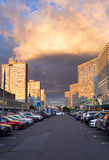 New Arbat Avenue. Moscow. Russia Stock Photos