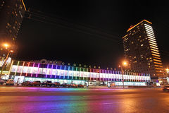 New Arbat in Moscow by night Royalty Free Stock Photography