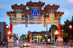 New arch for Chinatown, Ottawa Canada. A royal imperial arch was unveiled in Ottawa`s Chinatown Thursday Oct. 7, 2010. The arch since became one of the Royalty Free Stock Photos