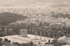 new architecture in the old europe greece and congestion of  hou Royalty Free Stock Photo