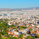 new architecture in the old europe greece and congestion of  hou Stock Photos
