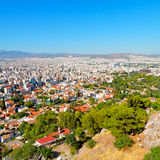 new architecture in the old europe greece and congestion of  hou Stock Photo