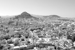 new architecture in the old europe greece and congestion of  hou Royalty Free Stock Photos