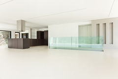 New architecture, wide hall Royalty Free Stock Image