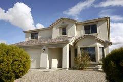 New Arizona Desert Home. New two-story three bedroom desert home in Maricopa, Arizona royalty free stock photography