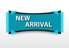 New arrival banner promotion blue Stock Photos