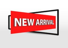New arrival banner promotion 3d effect Stock Photo