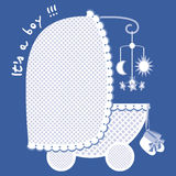 New arrival boy announcement Royalty Free Stock Photography