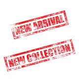 New Arrival, Collection stamp. Vintage rubber ink print Stock Photography