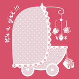 New arrival girl announcement Royalty Free Stock Photo