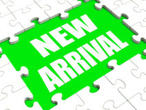 New Arrival Puzzle Shows Latest Products Announcement Arriving. New Arrival Puzzle Showing Latest Products Announcement Arriving Royalty Free Stock Photos