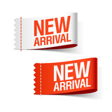 New arrival ribbons. The illustration of new arrival ribbons Royalty Free Stock Image