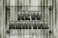 New Arrival sign board Royalty Free Stock Image