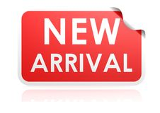 New arrival sticker Stock Image