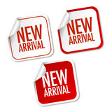 New arrival stickers Stock Photo