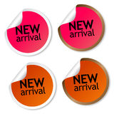 New arrival stickers Stock Photography