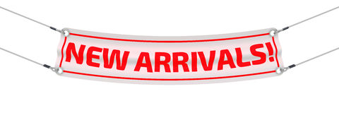 New arrivals! Advertising banner Royalty Free Stock Photos