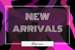 New Arrivals banner for cover page and advertising. Modern design Royalty Free Stock Photos