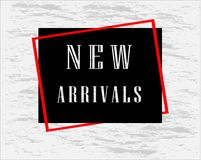 New Arrivals banner for cover page and advertising. Vector design Royalty Free Stock Photo