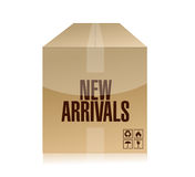 New arrivals box illustration design Stock Photography
