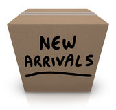 New Arrivals Cardboard Box Latest Products Merchandise Royalty Free Stock Photos