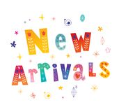 New arrivals decorative lettering banner Stock Photo