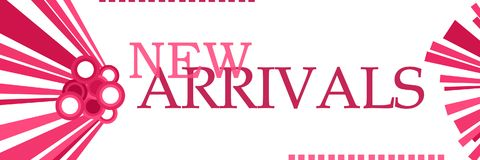 New Arrivals Pink Graphics Horizontal Stock Images