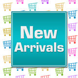 New Arrivals Shopping Cart Background Royalty Free Stock Images