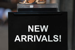 New Arrivals sign Stock Images