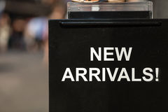 New Arrivals sign Stock Photography