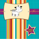 New arrived card with zebra Stock Image