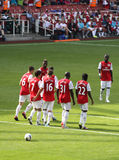 New Arseal lineup in Emirates Cup '11 Stock Photos