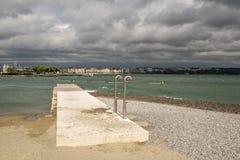 New artificial beach in Geneva