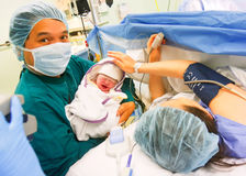 New Asian born baby stock photo