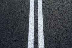 New asphalt with a clear marking line in the middle royalty free stock images