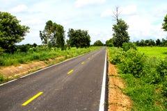 New asphalt road line road Stock Photos