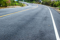 New asphalt texture with  line Stock Photography