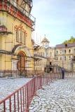 Abkhazia. New Athos Simon the Zealot Monastery. NEW ATHOS, ABKHAZIA - April 26.2015: Complex of buildings of the ancient Christian monastery on Mount Athos Stock Images