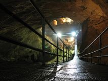 New Athos cave. Abkhazia. Stock Photo