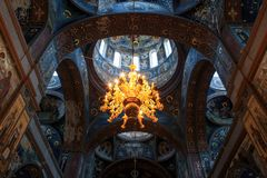 New Athos inside, the beauty of architecture royalty free stock images