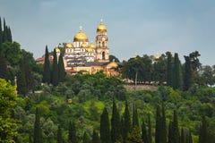 New Athos Monastery Stock Photo